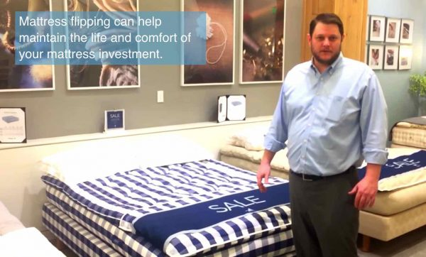 In-home Hästens mattress flipping service from the sleep store
