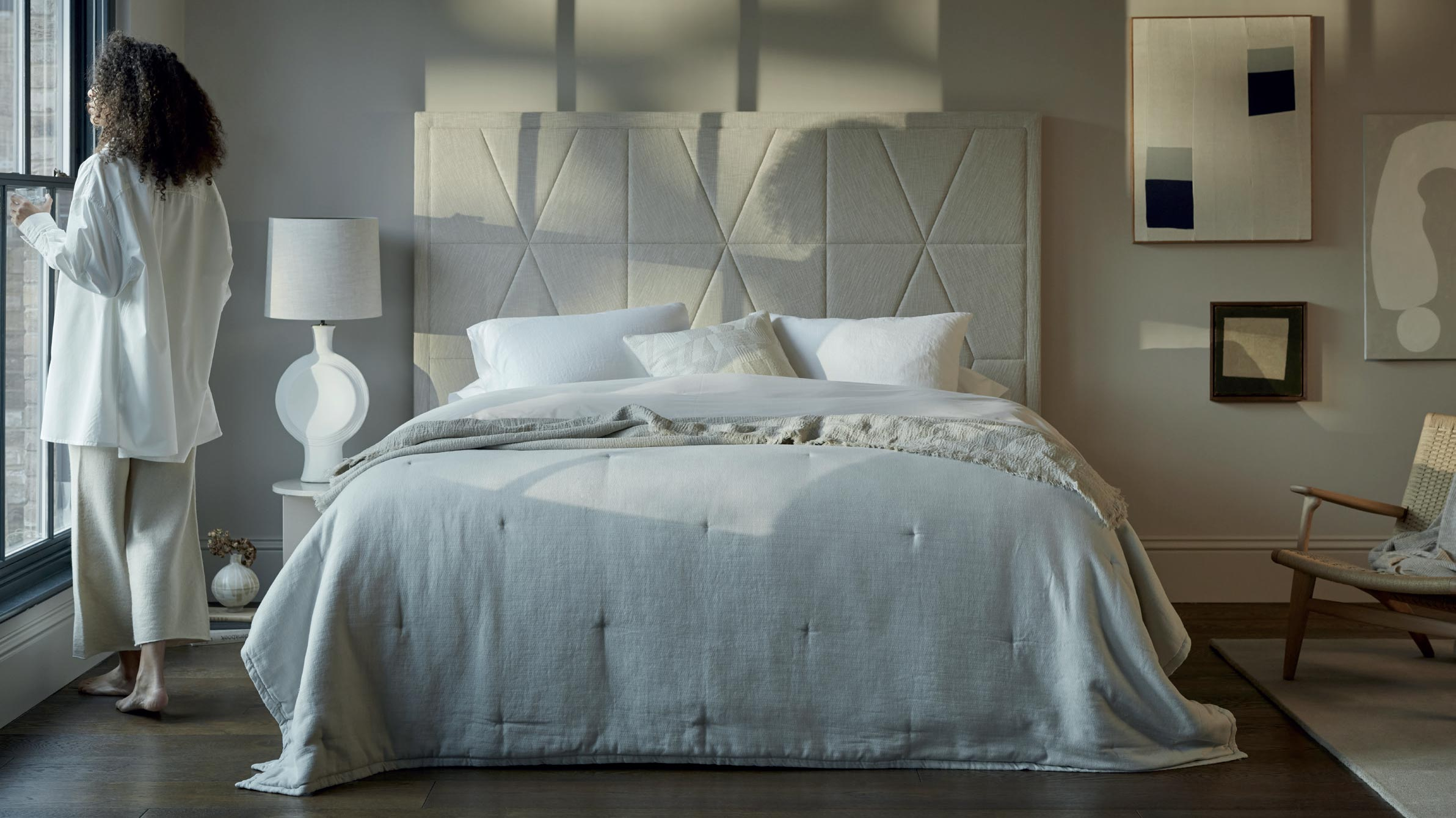 Vispring luxury beds from the sleep luxurry bed store in santana row