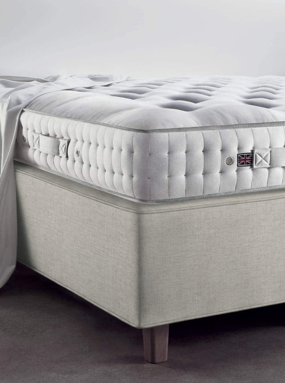 Vispring Oxford mattress and Prestige divan corner