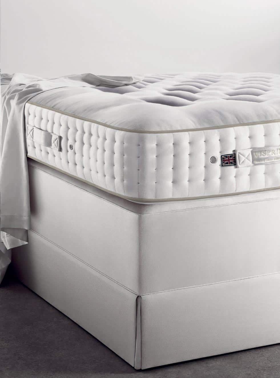 Vispring Signatory Superb and Sovereign Divan bed corner